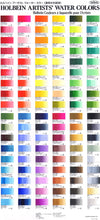 Load image into Gallery viewer, Holbein Artist's Watercolors in 5ml Tube (24)