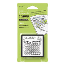 Load image into Gallery viewer, MIDORI Paintable Stamp // Habit Tracker