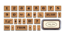 Load image into Gallery viewer, Cavallini Numbers & Symbols (Large) Rubber Stamp Set