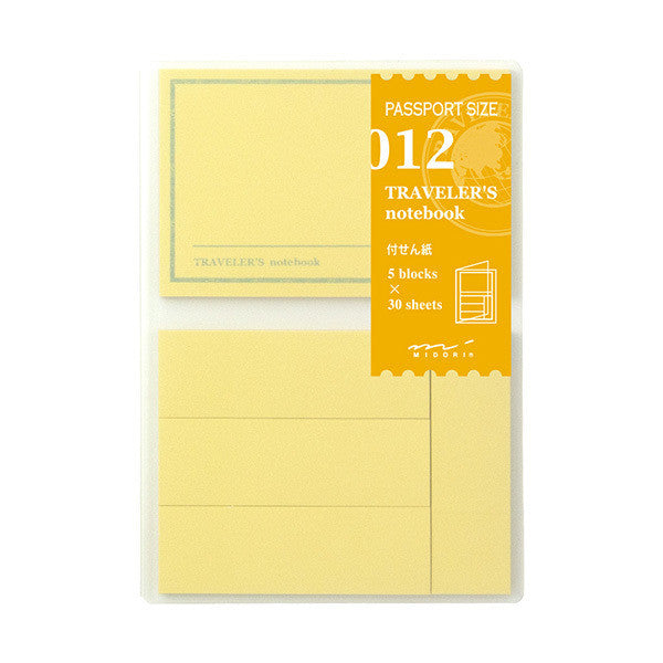 Traveler's Company 012 Sticky Note Insert // Passport
