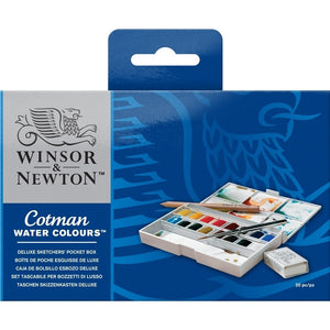 Winsor & Newton Cotman Watercolor Deluxe Pocket Plus Set  - Stickerrific