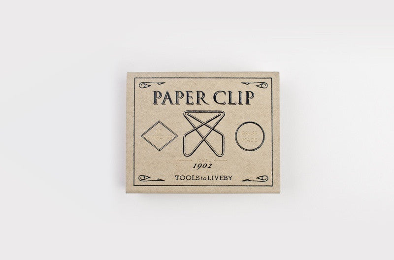 Tools to Liveby Brass Paper Clips (IDEAL)  - Stickerrific