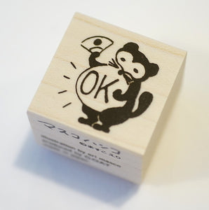 GOAT It's Okay Racoon Rubber Stamp