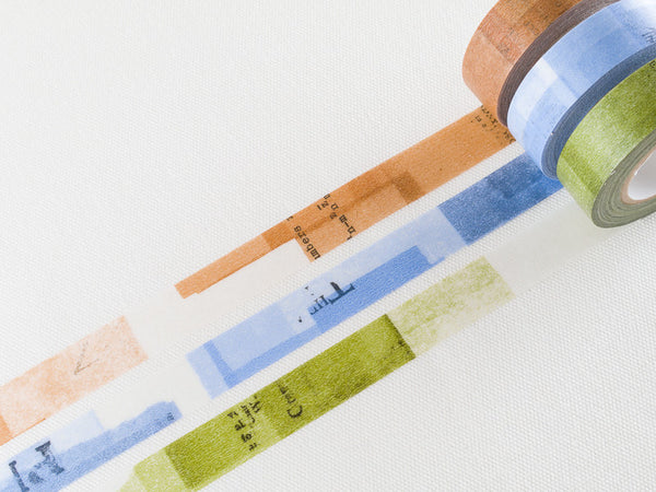 Classiky Washi Paper Adhesive Tape | Collage (3 rolls)