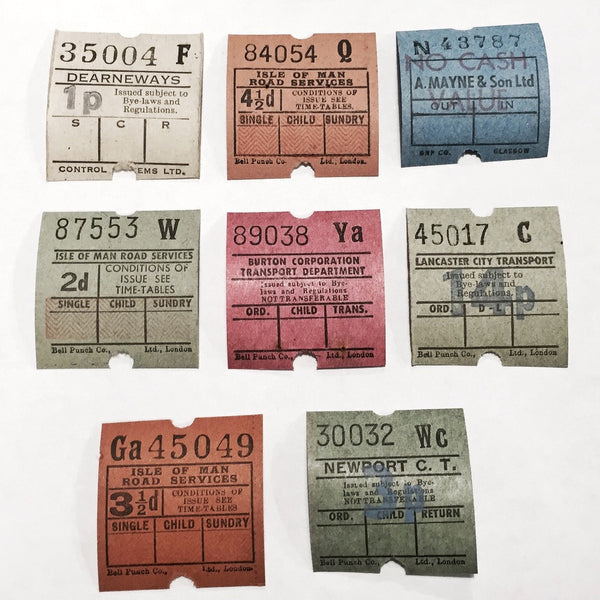 Vintage Ultimates Bus Tickets // 8 pcs