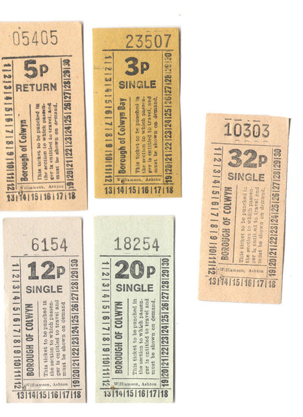 Borough of Colwyn Bus Tickets