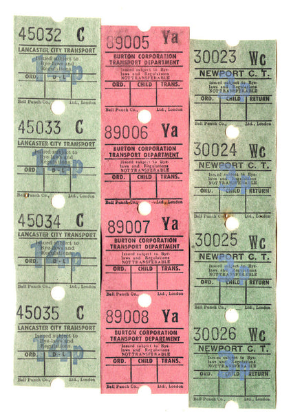 Vintage Bus Tickets II