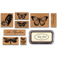 Load image into Gallery viewer, Cavallini Butterflies (Large) Rubber Stamp Set