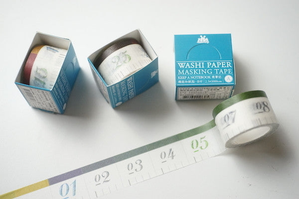 KEEP A NOTEBOOK Washi Paper Masking Tape // Ruler