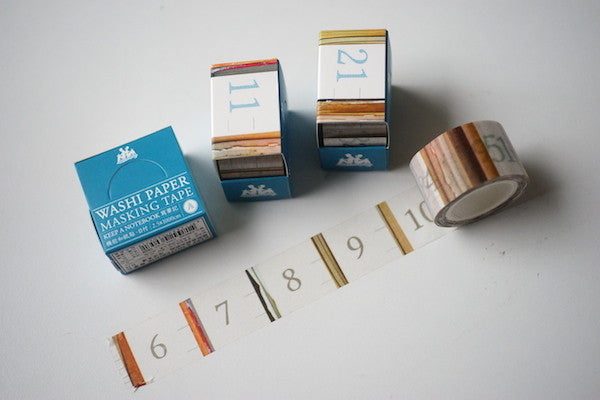 KEEP A NOTEBOOK Washi Paper Masking Tape // Wooden Numbers