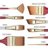 Princeton 4050 Heritage Synthetic Sable Brush // Fan