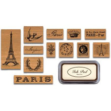 Load image into Gallery viewer, Cavallini Paris Rubber Stamp Set