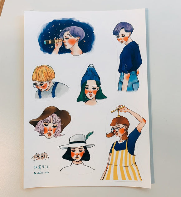 La Dolce Vita Aurora Sticker Sheet