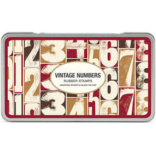 Load image into Gallery viewer, Cavallini Vintage Numbers Rubber Stamp Set  - Stickerrific