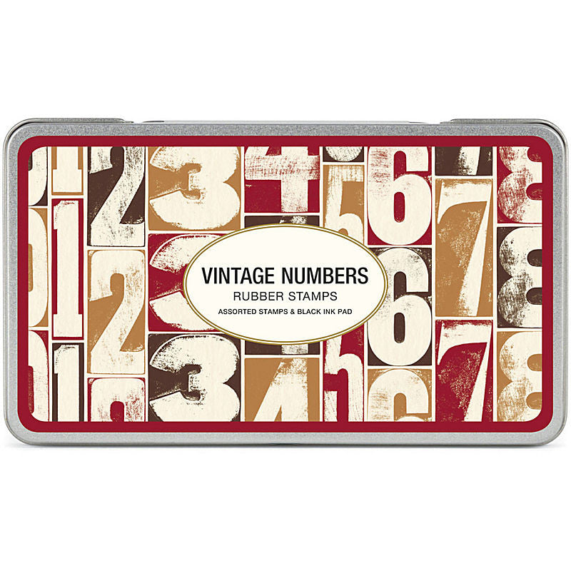 Cavallini Vintage Numbers Rubber Stamp Set  - Stickerrific