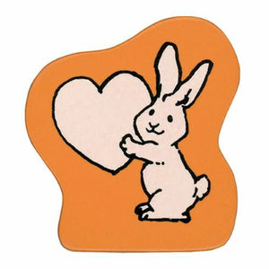Kodomo No Kao Rubber Stamp // Rabbit Heart