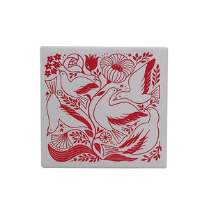 Kodomo No Kao x Atelier Naco Rubber Stamp // Birds and Flowers