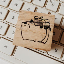 Load image into Gallery viewer, Catdoo Neko & Book Rubber Stamp // Librarian
