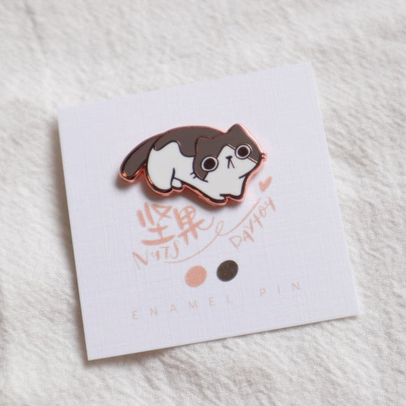 Ink Diary Enamel Pin // Nuts