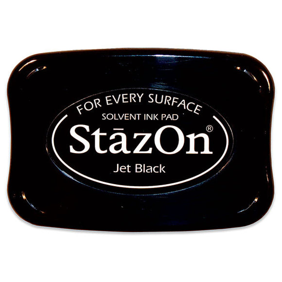 StazOn Large Ink Pad | Jet Black