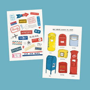Abbeysy | Airmail Postcard Set