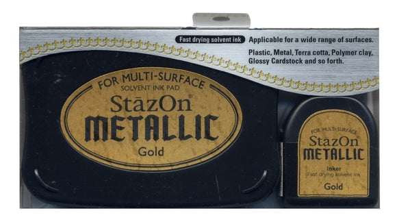 StazOn Metallic Gold Ink Pad / Large