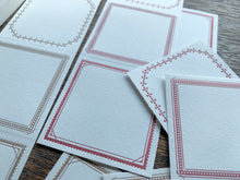 Load image into Gallery viewer, OEDA Letterpress 3pattern Label Book // Frames