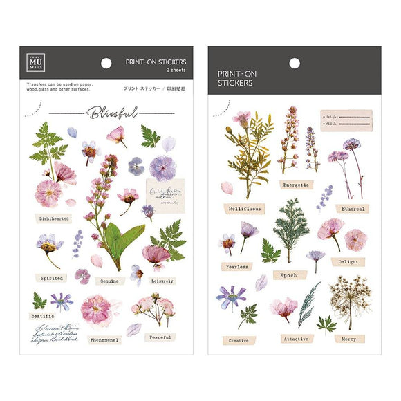 [NEW] Mu Craft Print-On Sticker // Pressed Flower (Pink)