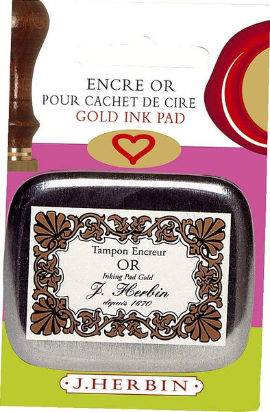 J. Herbin Ink Pads for Wax Seals / Gold