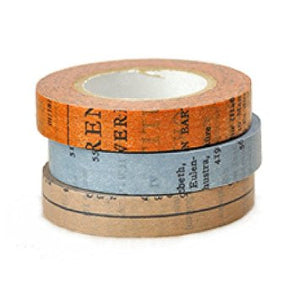 Classiky Washi Tape // Old Books Set (10mm)