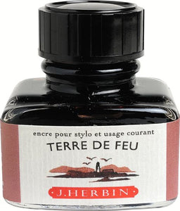J.Herbin Fountain Pen Ink 30ml - Terre De Feu