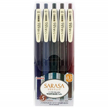 Load image into Gallery viewer, Sarasa Gel 0.5mm Retractable Pen // Vintage Color Set 1