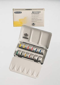 SCHMINCKE AKADEMIE® Aquarell Compact metal box with 12 half pans