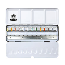 Load image into Gallery viewer, SCHMINCKE AKADEMIE® Aquarell metal box with 12 half pans