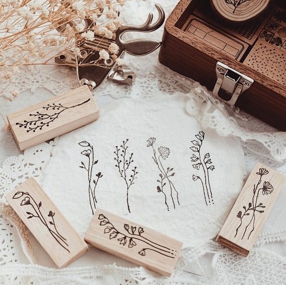 Nove Botanical Series Rubber Stamps