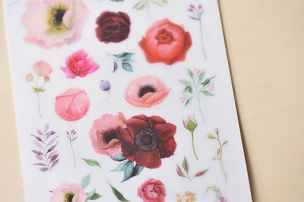 [NEW] Mu Craft Print-On Sticker // Rose Garden