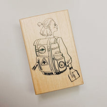 Load image into Gallery viewer, La Dolce Vita Rubber Stamp // Travel Girl