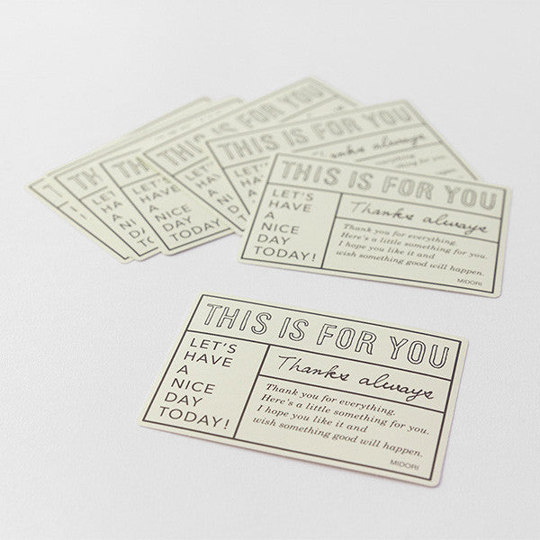 Midori For You Gift Sticker // White