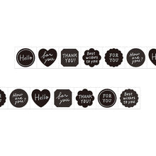 Load image into Gallery viewer, MIDORI Roll Sticker // Metallic Black Message