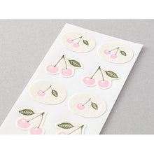 Load image into Gallery viewer, MIDORI Letterpress Sticker // Cherry