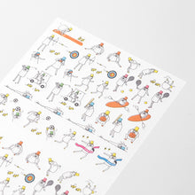 Load image into Gallery viewer, MIDORI Planner Sticker / Sports Ojisan