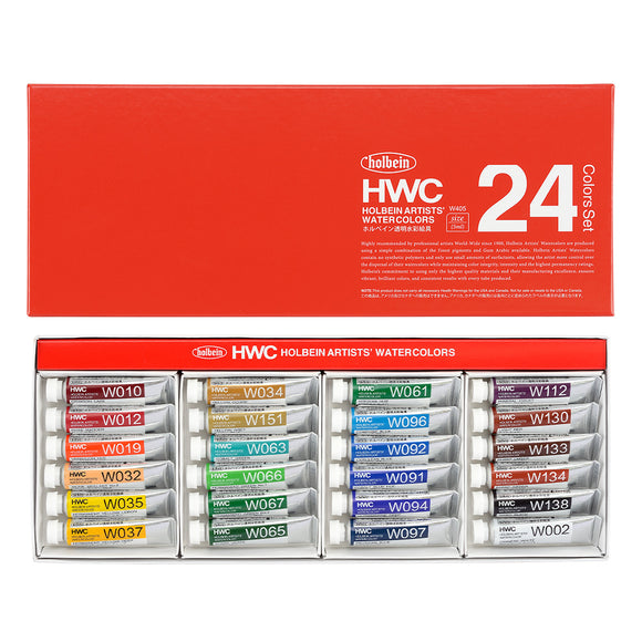 Holbein Artist's Watercolors in 5ml Tube (24)