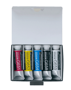 Holbein Artist's Gouache Primary Colors in 15ml Tube (5)