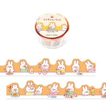 Load image into Gallery viewer, Mind Wave Die Cut Washi Tape // Rabbit Mu-Chan (Let's Eat)