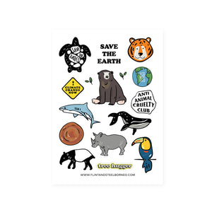 Flint and Steel Stickers / Save the Earth