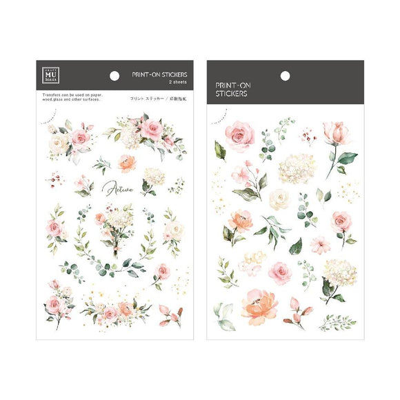 [NEW] Mu Craft Print-On Sticker // Rose Bouquet