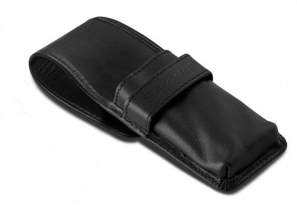 Escoda Black Leather Case for 3 Travel Brushes