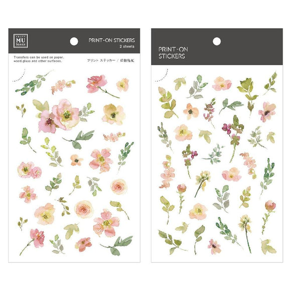 [NEW] Mu Craft Print-On Sticker // Flower Field