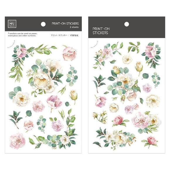 [NEW] Mu Craft Print-On Sticker // Summer Flowers
