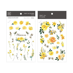 [NEW] Mu Craft Print-On Sticker // Yellow Roses